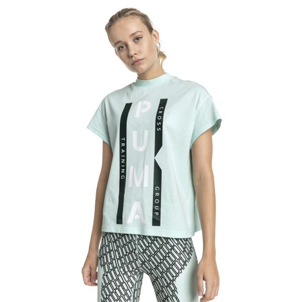 PUMA XTG グラフィック ウィメンズ SS Tシャツ (半袖), Fair Aqua, large-JPN