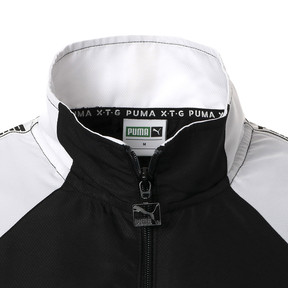 Thumbnail 10 of PUMA XTG ウーブンジャケット, Puma Black-Puma white, medium-JPN