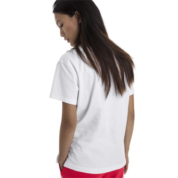 CLASSICS ロゴ ウィメンズ SS Tシャツ (半袖), Puma White-metal, large-JPN