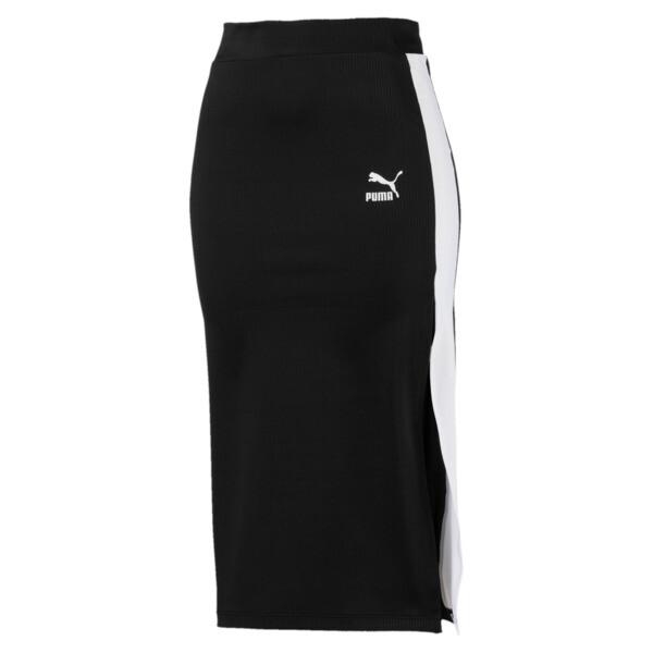 CLASSICS ウィメンズ リブスカート, Puma Black, large-JPN