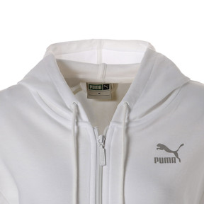 Thumbnail 9 of CRUSH ウィメンズ フーデッドスウェットジャケット, Puma White, medium-JPN