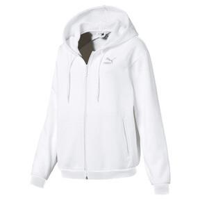 Thumbnail 1 of CRUSH ウィメンズ フーデッドスウェットジャケット, Puma White, medium-JPN