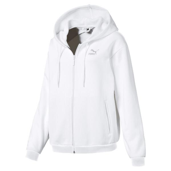 CRUSH ウィメンズ フーデッドスウェットジャケット, Puma White, large-JPN