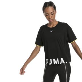 Thumbnail 2 of CHASE ウィメンズ SS Tシャツ, Cotton Black, medium-JPN
