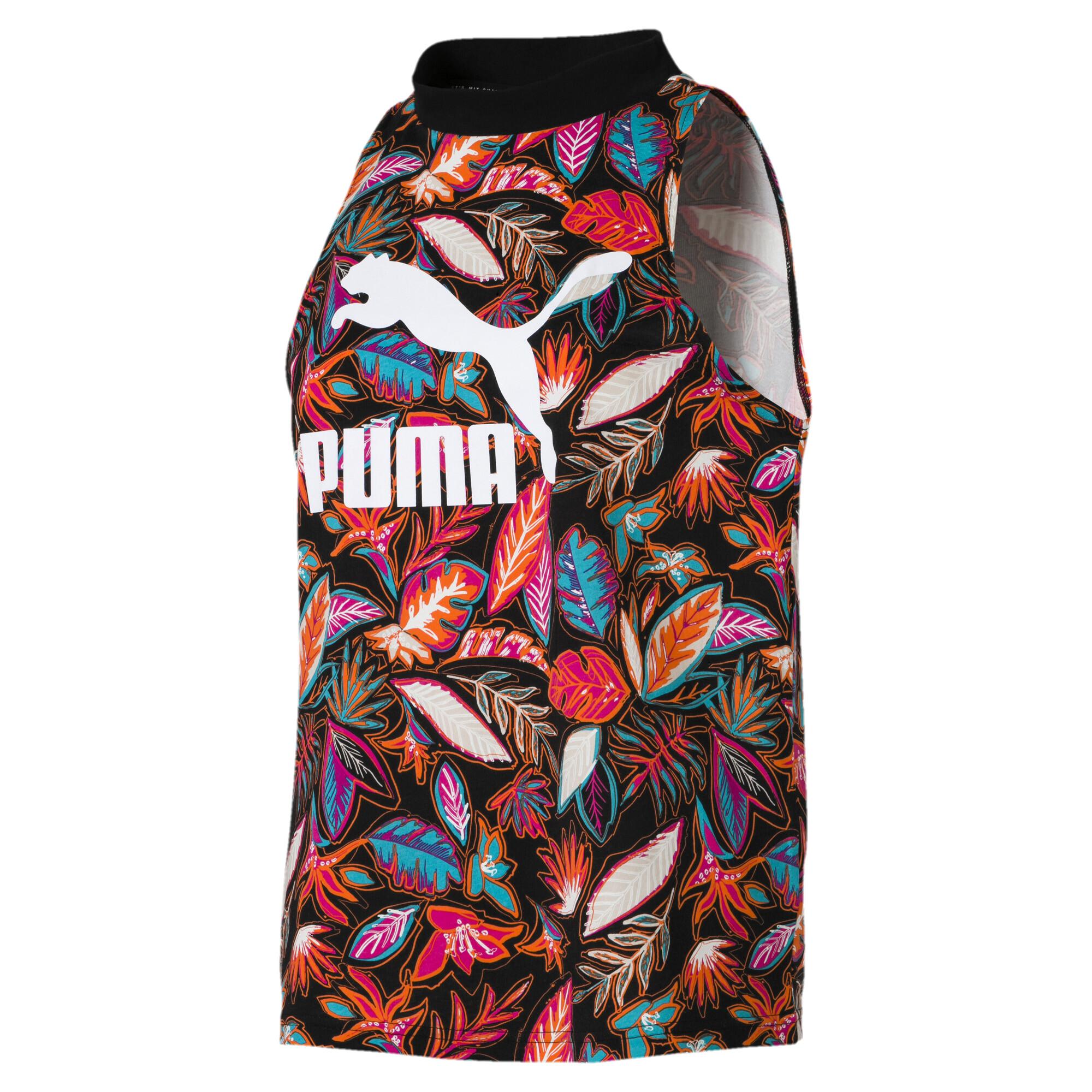 【プーマ公式通販】 プーマ CLASSICS AOP ウィメンズ タンクトップ ウィメンズ Cotton Black  PUMA.com