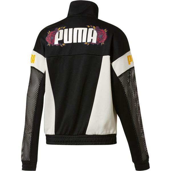 Flourish XTG Women's Jacket, Puma Black-Whisper White, large