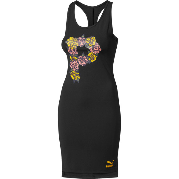 Flourish Women's Dress, Puma Black-Gold Fusion, large