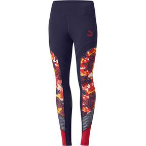 Thumbnail 1 of Flourish XTG Women's Leggings, Peacoat-Hibiscus Multi, medium