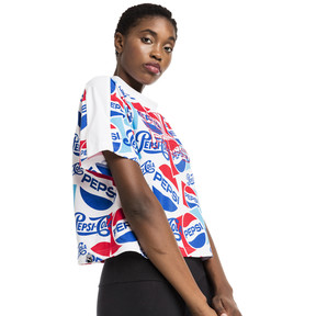 Thumbnail 2 of Pepsi X Puma AOP Crop Tee, Puma White-AOP, medium