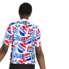 Thumbnail 3 of Pepsi X Puma AOP Crop Tee, Puma White-AOP, medium