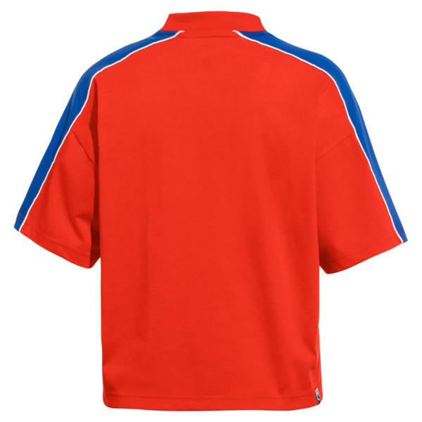 Pepsi X Puma Solid Crop Tee, Bright Red, large
