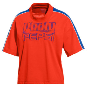 Thumbnail 1 of Pepsi X Puma Solid Crop Tee, Bright Red, medium