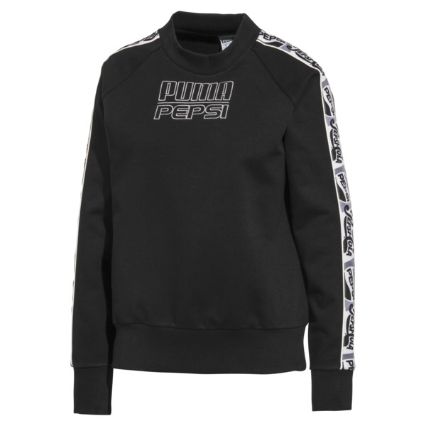 Pepsi X Puma Tape Crew FL, Cotton Black, large