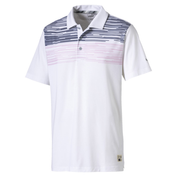 Pin High Men's Polo, Pale Pink, large