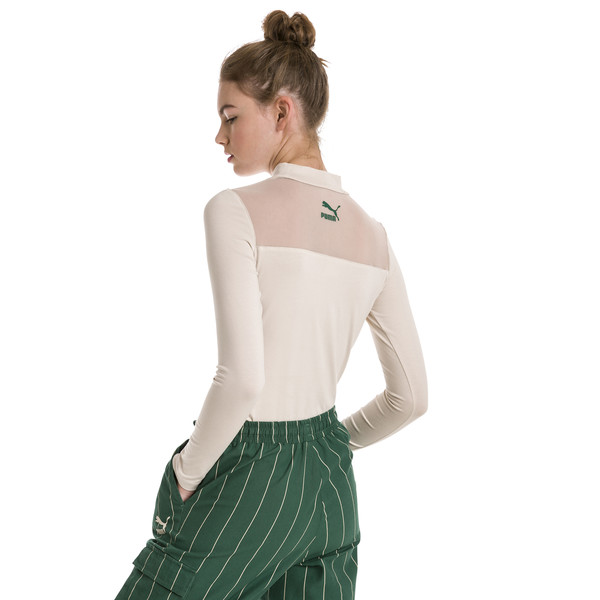Long Sleeve Women's Top, Oatmeal, large