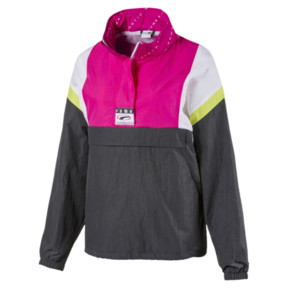 Archive '90s Retro Damen Windbreaker mit Kapuze