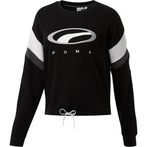 Thumbnail 1 of 90s Retro Women's Crewneck Sweatshirt, Cotton Black, medium