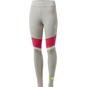 Thumbnail 1 of 90s Retro Women's Leggings, Light Gray Heather, medium
