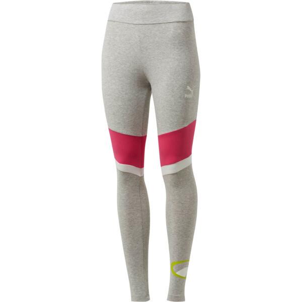 90s Retro Women's Leggings, Light Gray Heather, large
