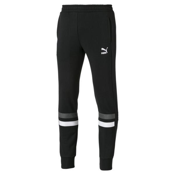 Cuffed Men's Sweatpants, Cotton Black, large