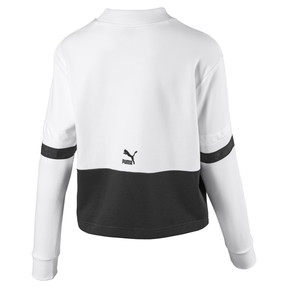 Thumbnail 2 of Women's Sweater, Puma White-Cotton Black, medium