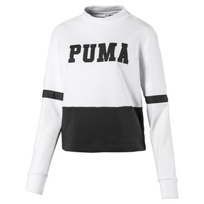 Thumbnail 1 of Women's Sweater, Puma White-Cotton Black, medium