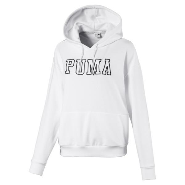 Women's Hoodie, Puma White, large