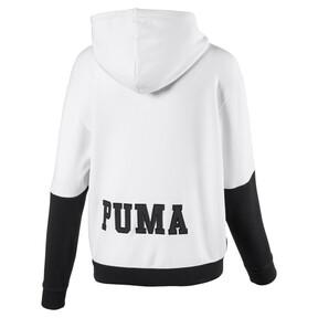 Thumbnail 2 of Full Zip Women's Hoodie, Puma White-Cotton Black, medium
