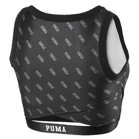 Thumbnail 2 of All-Over Printed Cropped Women's Top, Puma Black, medium