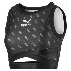 Thumbnail 1 of All-Over Printed Cropped Women's Top, Puma Black, medium