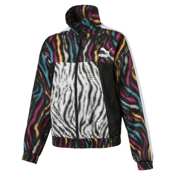 Wild Pack Women's Cropped Jacket, Puma Black-colour/Zebra, large
