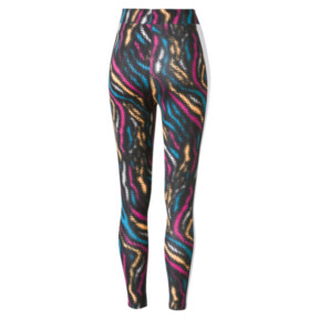 Thumbnail 2 of Wild Pack Women's Leggings, Puma White-colour Zebra AOP, medium