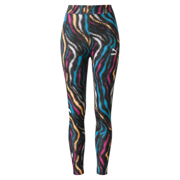 Wild Pack Women's Leggings, Puma White-colour Zebra AOP, large