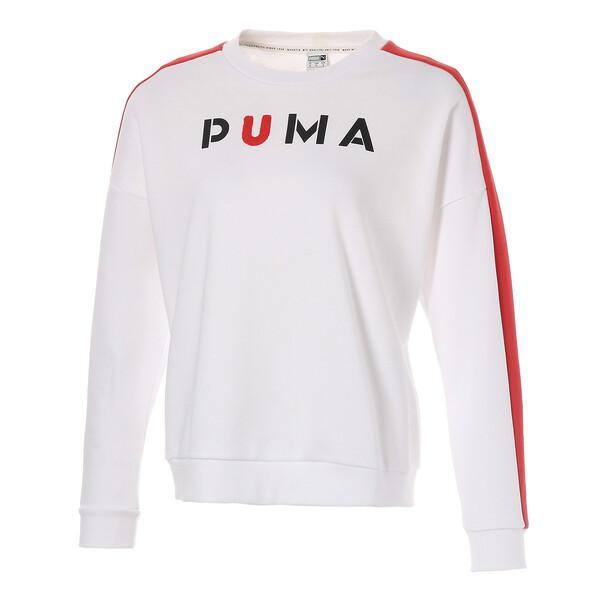 WOMEN'S PUMAクルー, Puma White, large-JPN