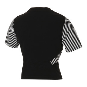 Thumbnail 2 of CLASH AOP ウィメンズ トップ, Cotton Black-Stripe, medium-JPN