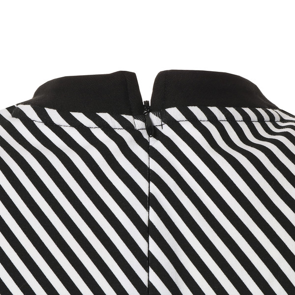 CLASH AOP ウィメンズ ドレス, Cotton Black-Stripe, large-JPN