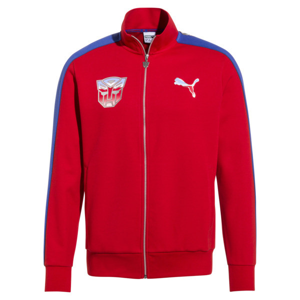 Blouson de survêtement T7 PUMA x TRANSFORMERS pour homme, High Risk Red, large