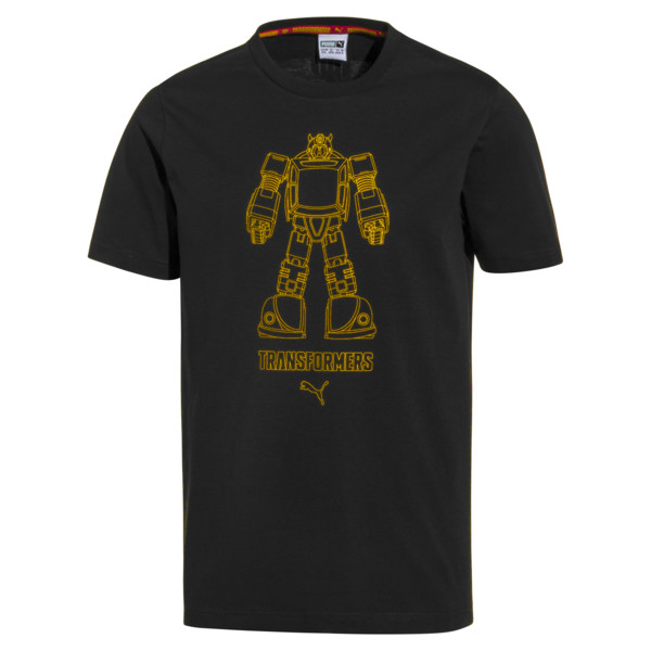 T-Shirt PUMA x TRANSFORMERS pour homme, Puma Black, large