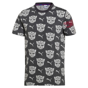 Thumbnail 1 of PUMA x Transformers Men's AOP Tee, QUIET SHADE--AOP, medium