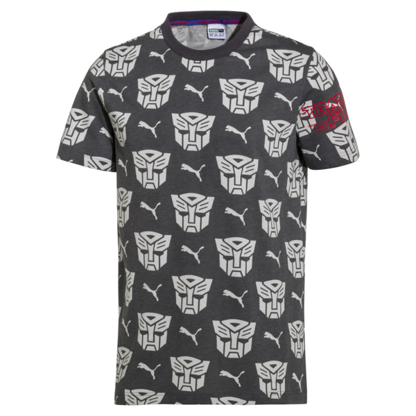 PUMA x Transformers Men's AOP Tee, QUIET SHADE--AOP, large