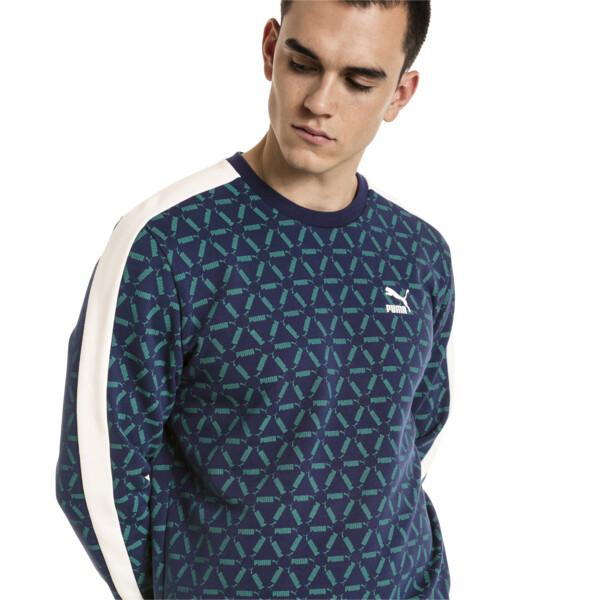 Lux Men's Crewneck Sweatshirt, Peacoat, large