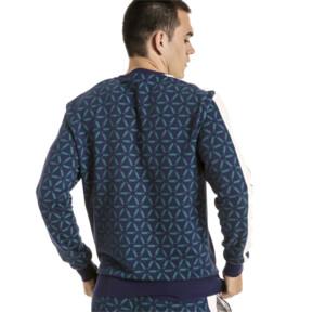 Thumbnail 3 of Lux Men's Crewneck Sweatshirt, Peacoat, medium
