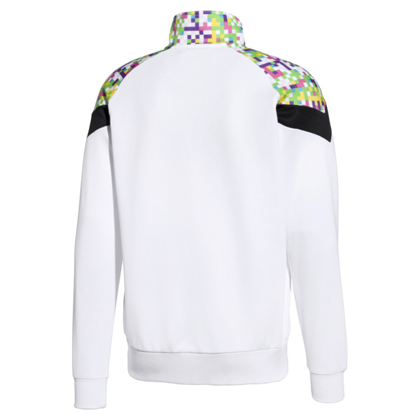PUMA x MTV MCS Men's AOP Track Top, Puma White-AOP, large