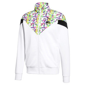 Thumbnail 1 of Blouson de survêtement PUMA x MTV MCS à impression allover pour homme, Puma White-AOP, medium