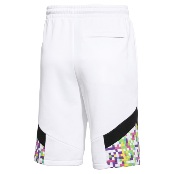 Short PUMA x MTV MCS à impression allover pour homme, Puma White-AOP, large