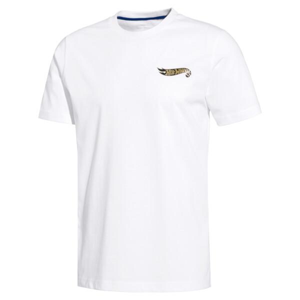 Camiseta de hombre PUMA x HOT WHEELS, Puma White -1, grande