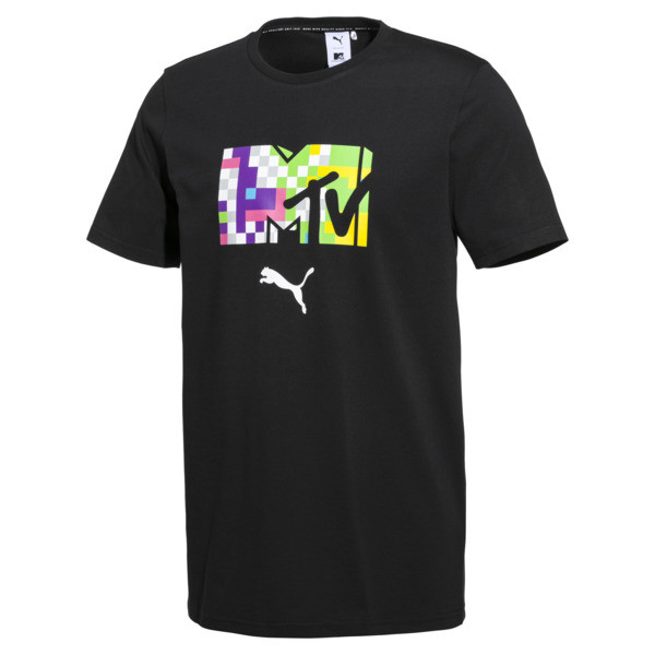 PUMA x MTV Men's Tee, Puma Black, large