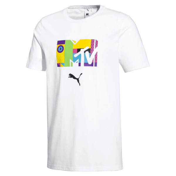 PUMA x MTV Men's Tee, Puma White, large