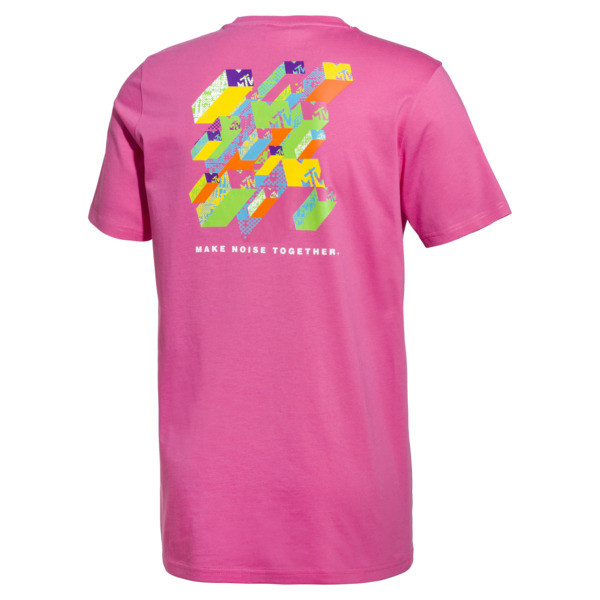 PUMA x MTV Men's Tee, SHOCKING PINK, large