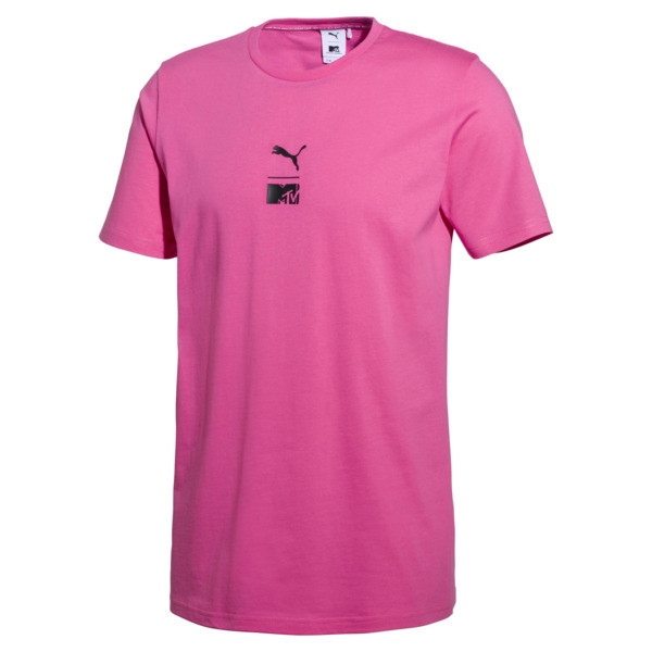 T-Shirt PUMA x MTV pour homme, SHOCKING PINK, large